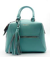 Шикарная женская сумочка GАLАNTY из прессованной кожи бирюзового цвета LKK-240049, фото 1