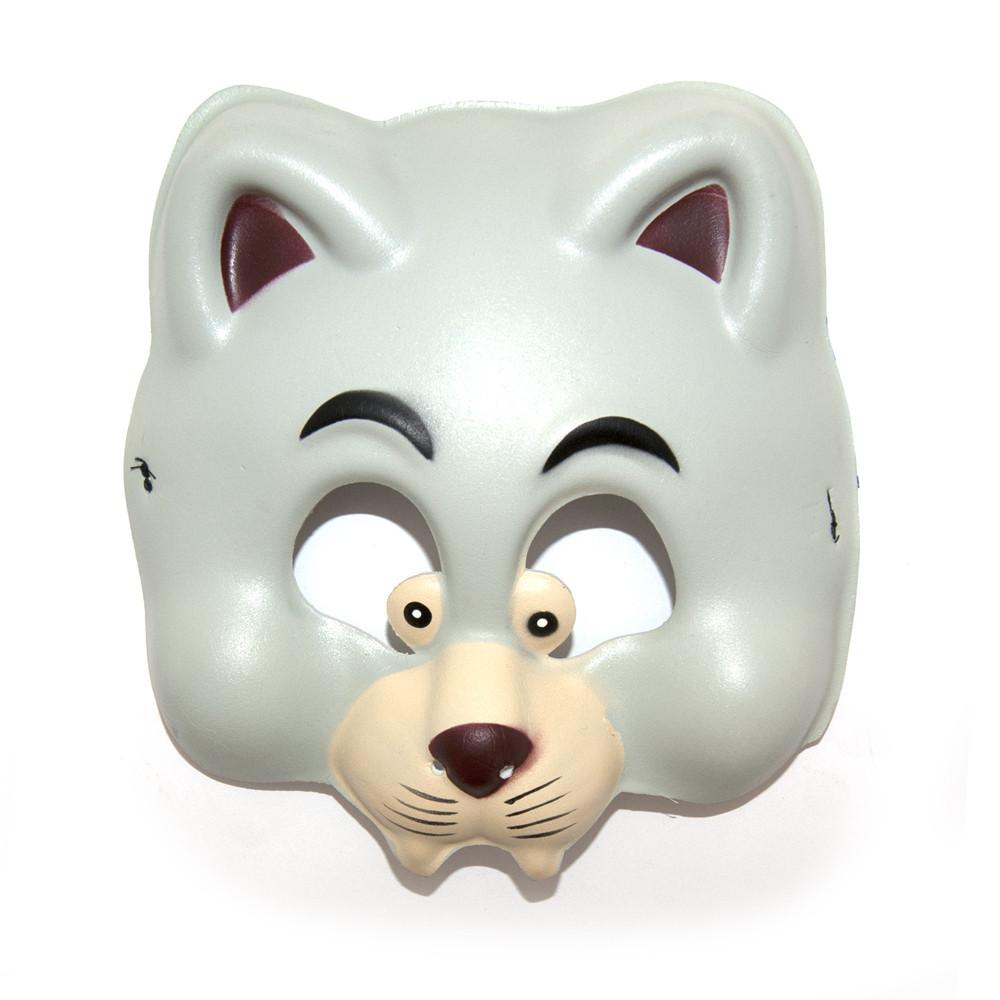Маска виниловая детская Кот (серый)