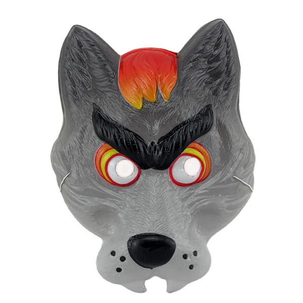 Маска Детская Волк (уп. 12шт) пластик