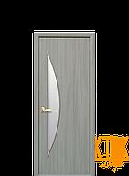 Межкомнатные двери Новый Стиль Луна стекло сатин (ясень патина) экошпон