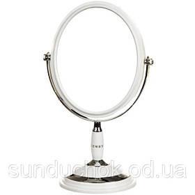 Зеркало косметическое двухстороннее с увеличением 30 см 043Z