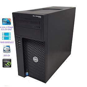 Рабочая станция DELL Precision T1700/E3-1225 v3/16GB DDR3-ECC/HDD500GB/Quadro k2000