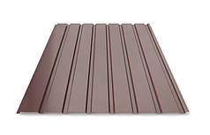 Профнастил шоколад для забору ПС-20, 0,30 -0,35 мм; висота 1.75 метра ширина 1,16 м