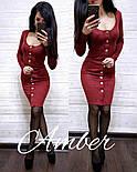 Женское замшевое платье с пуговицами (4 цвета), фото 4