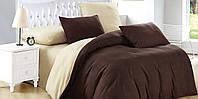 """Комплект постельного белья ТМ """"Ловец снов"""", Однотонный коричневый"""