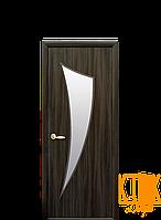 Межкомнатные двери Новый Стиль Парус стекло сатин (кедр) экошпон
