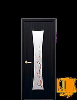 Межкомнатные двери Новый Стиль Часы с рисунком Р1 (венге) экошпон
