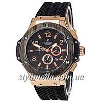 Мужские Часы Hublot Big Bang Black Gold Glass — Купить Недорого у ... 8c4d6bec88218