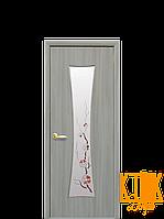 Межкомнатные двери Новый Стиль Часы с рисунком Р1 (ясень патина) экошпон