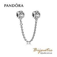 Pandora защитная цепочка АЖУРНЫЕ СЕРДЦА #797036 серебро 925 Пандора оригинал, фото 1