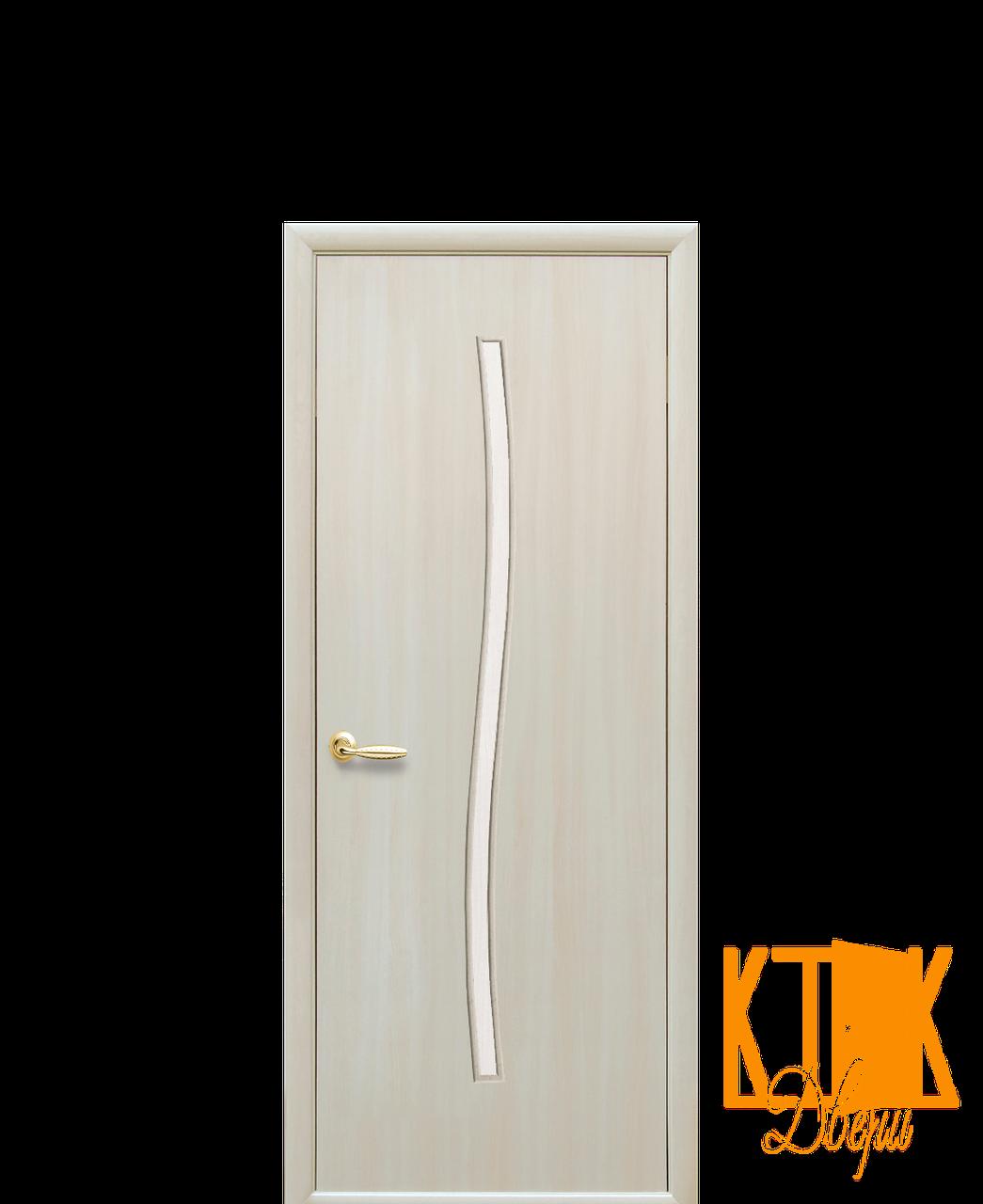 Межкомнатные двери Новый Стиль Гармония (дуб жемчужный) экошпон