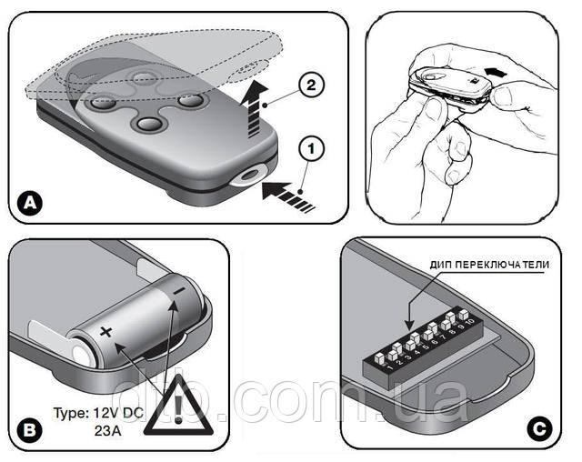 Пульт Nice Flo - как заменить батарейку