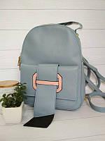 Молодежный рюкзак для девушек серого цвета