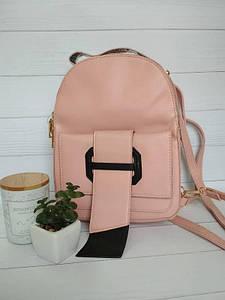Молодежный рюкзак для девушек пудрового цвета