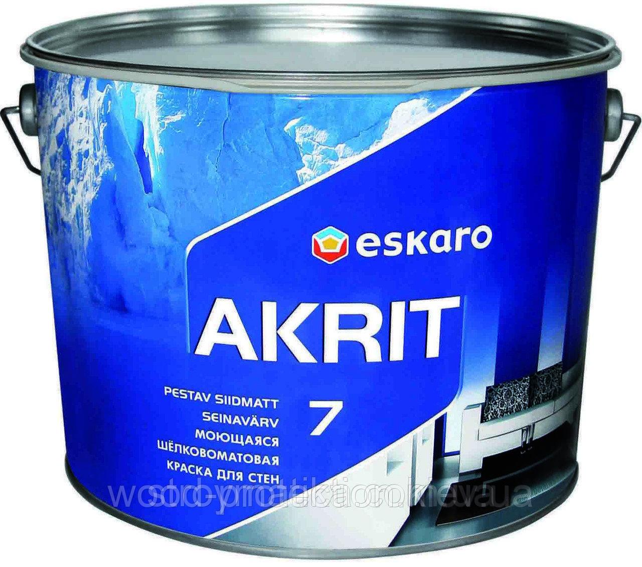 Eskaro Akrit 7 фарба для використання в приміщеннях з підвищеною вологістю (шовково-матова) 2,85 л.