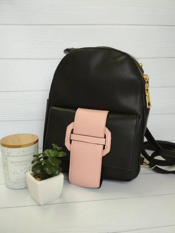 Стильный рюкзак для девушек черного цвета