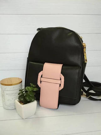 Стильный рюкзак для девушек черного цвета, фото 2