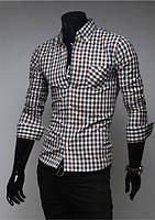 Рубашка мужская в клетку XXS / 34 - 35