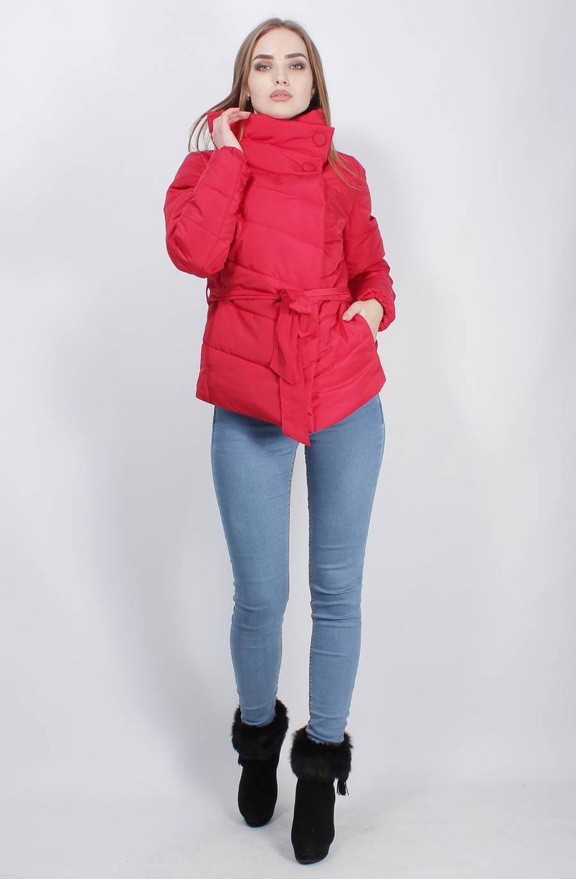 Женская асимметричная деми куртка