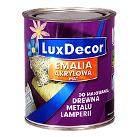 Эмаль универсальная акриловая на водной основе матовая Luxe Dekor 0,4 л