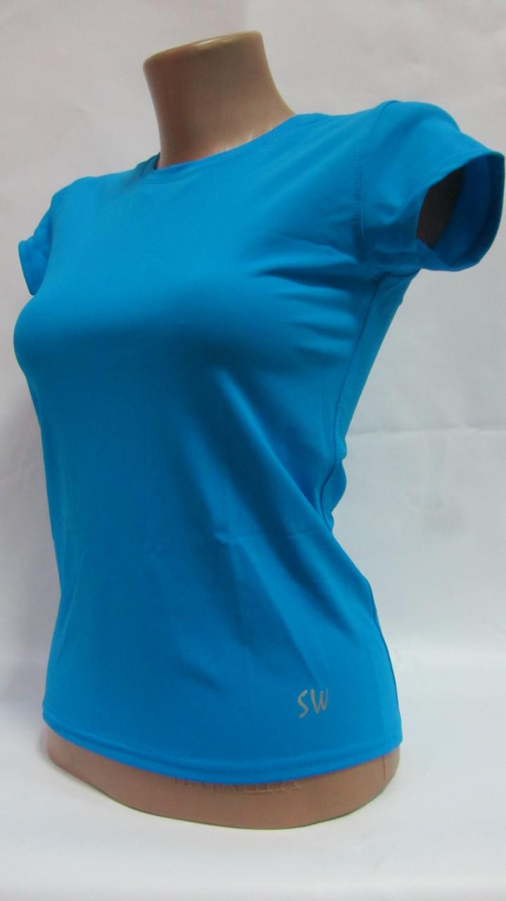 Футболка спортивная женская с коротким рукавом размер S (42)