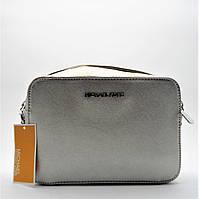 Удивительная женская сумочка MK серебристого цвета PQQ-076255, фото 1