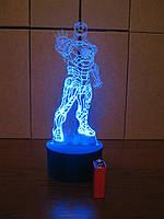 3d-светильник Железный человек в рост, 3д-ночник, несколько подсветок (на батарейке)