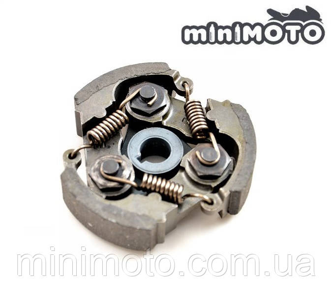 Сцепление (муфта, колодки) минимото, детский квадроцикл 3-колодочное под шпонку (метал)