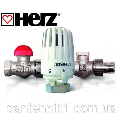 Термостатический комплект бокового подключения HERZ Project прямой (TS-90-V DN 15, RL-1 DN 15)