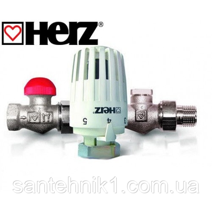 Термостатический комплект бокового подключения HERZ Project прямой (TS-90-V DN 15, RL-1 DN 15), фото 2