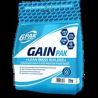 6PAK Nutrition Gain Pak 3000 g (Strawberry)