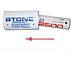 "Переходник, адаптер с пальчикового аккумулятора ""АА"" на ""С""  Btone"