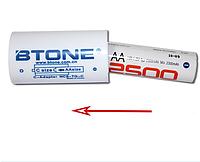 "Переходник, адаптер с пальчикового аккумулятора ""АА"" на ""С""  Btone, фото 1"