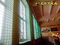 Сетка заградительная - спортивная. Ячейка 120х120 мм Ø шнура 3 мм
