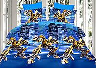 Комплект детского постельного белья Трансформеры 150*220 хлопок (7086) TM KRISPOL Украина