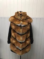 Куртка-трансформер из меха лисы