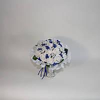Букет дублер бело-синего цвета