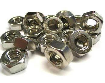 Гайка нержавеющая М12 DIN 934 (ГОСТ 5915-70, ГОСТ 5927-70) сталь А2 и А4, фото 2