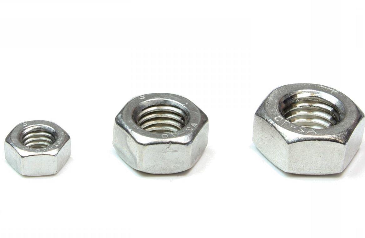 Гайка нержавеющая М12 DIN 934 (ГОСТ 5915-70, ГОСТ 5927-70) сталь А2 и А4