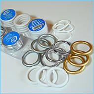 Кольца для шторок в ванную Wela w1110 (12шт.) Белый