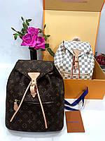 Женский рюкзак LOUIS VUITTON MONTSOURIS коричевый (реплика), фото 1