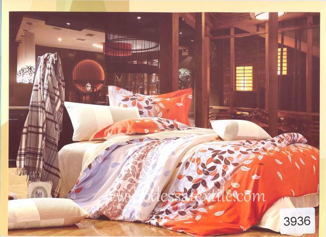 Семейный комплект постельного белья ELWAY 3936 сатин