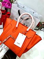 Яркая женская сумка Celine гладкая кожа (реплика), фото 1