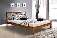 Ліжко двоспальне 160*200 з в спальню дитячу  ручна ковка вільха  Каріна  Елегант  Мікс Меблі