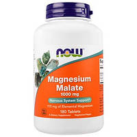Now Foods, Магній малат, 1000 мг, 180 таблеток