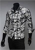 Мужская рубашка в стиле Милитари М / 39-40