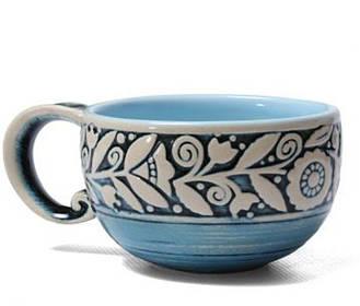 Чашка - 300 мл, Голубая (Manna Ceramics)