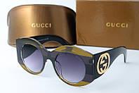 Солнцезащитные очки круглые Gucci синие, фото 1