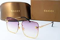 Солнцезащитные очки квадратные Gucci розовые, фото 1