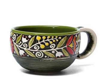 Чашка - 300 мл, Зеленая (Manna Ceramics)